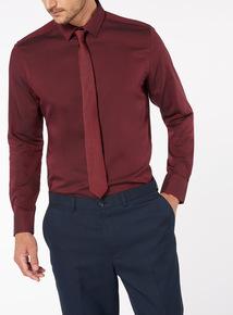 Dark Red Shirt Tie Set