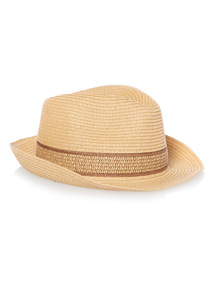 Stone Woven Trilby