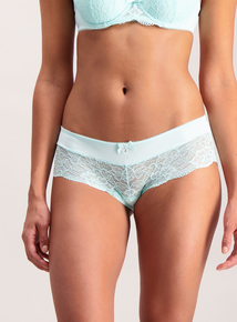 Aqua Lace Short Briefs