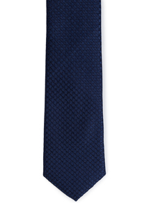 Navy Textured SkinnyTie