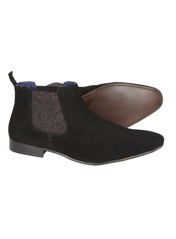 promo code 198f7 2faa5 STYLE AW19 SILVER STREET - BLACK SUEDE CHELSEA BOOT - Black