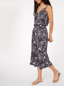 Monochrome Palm Tree Jumpsuit