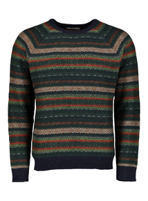 Multicoloured Fairisle Crew Neck Jumper