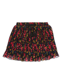 Girls Black Mini Pleat Skirt (3-12 years)