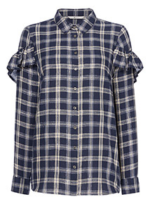 Frill Check Shirt