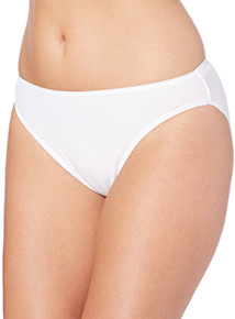 White High Leg Briefs 5 Pack
