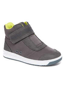 Grey Rip Tape High Top Trainers