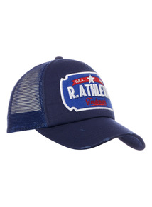 Online Exclusive Russell Athletic Blue Trucker Cap