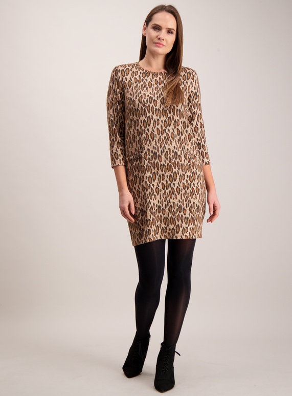 c0e5ba795f Womens Online Exclusive Animal Print Brushed Dress
