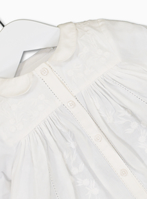 White Long-Sleeved Blouse (0-24 Months)