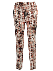 Multicoloured Animal Print Draped Trousers