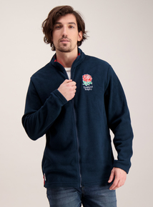 England Rugby Navy Zip Up Fleece