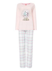 Snoopy Jersey Plaid Gift Pyjama Set