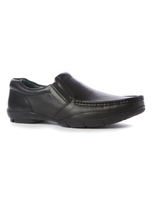 Black 'Sole Comfort' Leather Shoes