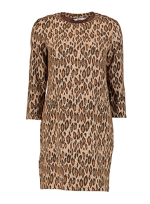 Online Exclusive Animal Print Brushed Dress