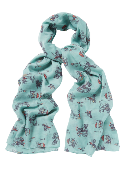 womens blue chic bicycle scarf tu clothing