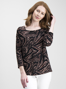 81d6881aee3 Multicoloured Animal Print Long Sleeve Top