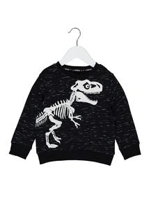 Halloween T-Rex Skeleton Long Sleeve Sweatshirt (9 months-6 years)