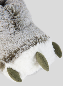 Khaki Monster Feet Slippers (6 Infant-4 Child)