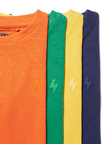 4 Pack Plain Long-Sleeved T-Shirts (3-14 years)