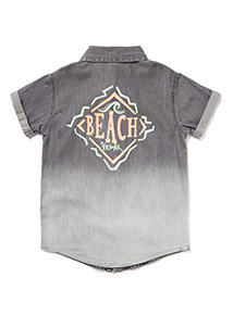 Grey Denim Ombre Shirt (3-14 years)