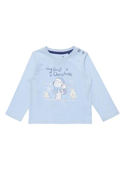 e6c3aa8b7 Baby Boys Blue First Christmas T-Shirt (0-24 months) | Tu clothing