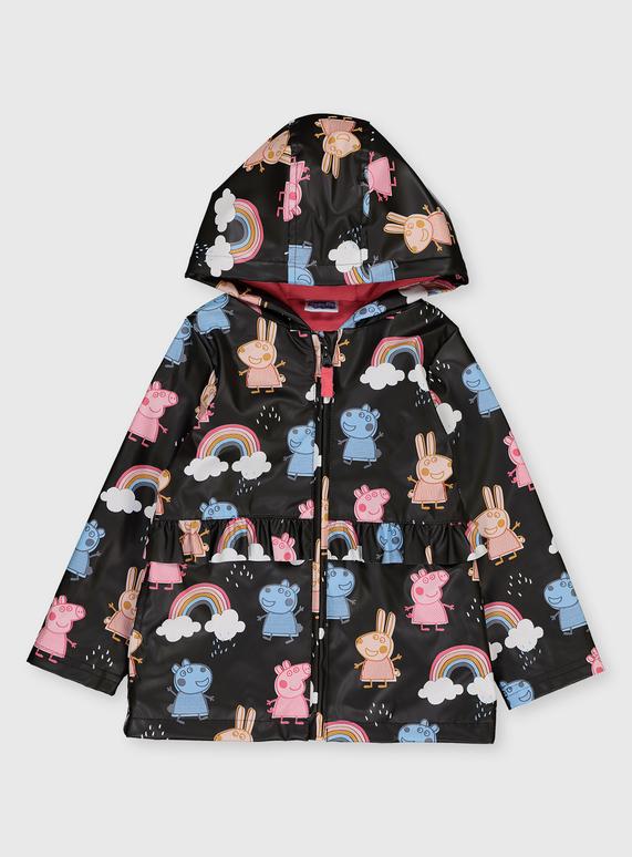 Peppa Pig Print Hooded Mac (1-7 Years)