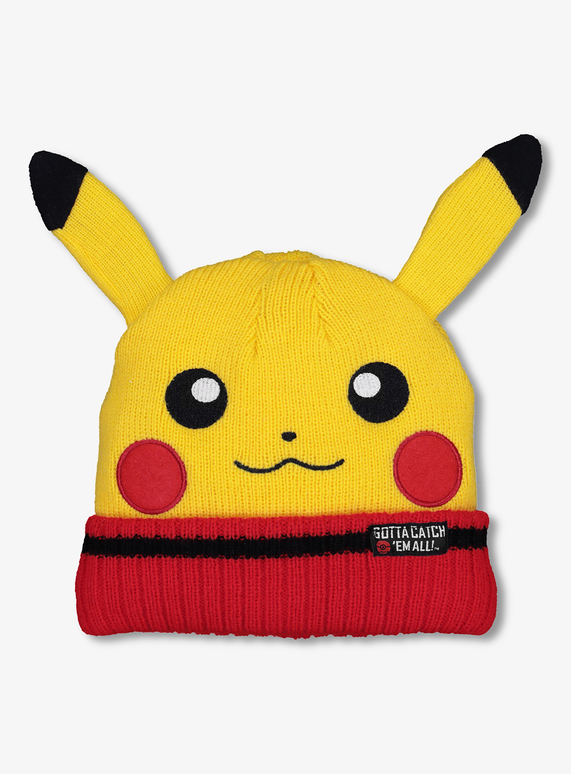 Kids Yellow Pokemon Knitted Beanie Hat (3-13 years)  7dc72fbb3cd