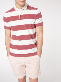 Stone Block Striped Rugby Shirt