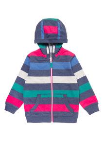 Multicoloured Stripe Zip Through Hoody (9 months-6 years)
