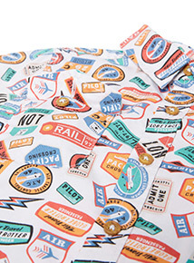 Multicoloured American Signs Printed Shirt (9 months-6 years)
