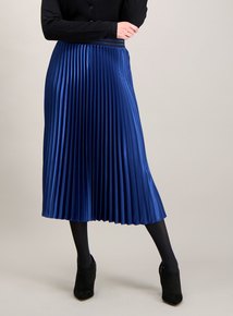 Moonlight Blue Pleated Skirt