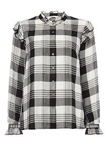 Check Frill Shirt