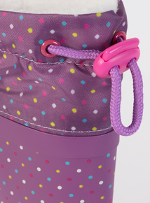 Purple Spotted Wellies (10 Infant-4 Child)