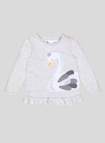 Beige Swan Princess T-Shirt (0-24 months)