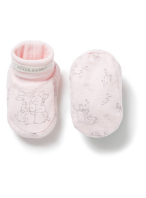 Pink Peter Rabbit Booties (0-24 months)