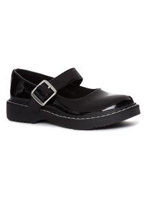 Black Chunky Mary Jane Shoes