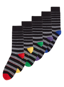 Multicoloured Stay Fresh Socks 5 Pack