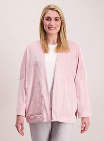 Pink Velour Sleep Jacket