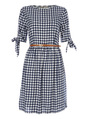 Thumbnail of SKU: SORBET GINGHAM BELTED DRESS SS17:Navy