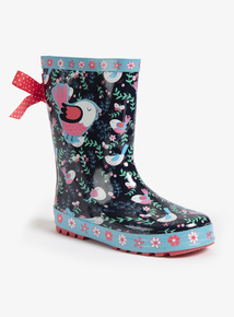 Multicoloured Floral Wellies (Infant 4-12)