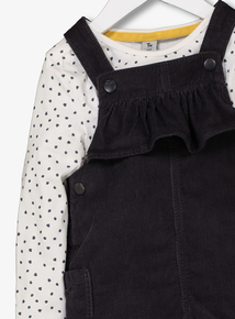 Grey Bib Shorts, Top & Tights Set (9 months-6 years)