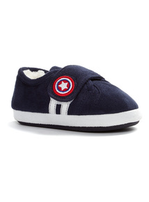 Navy Football Slippers