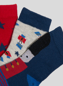 Multicoloured Toy Soldier Socks 4 Pack (Newborn - 24 months)