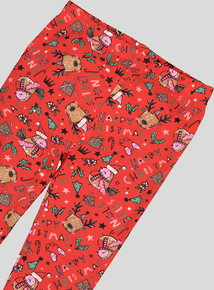 Christmas Multicoloured Print Leggings (9 Months - 6 Years)