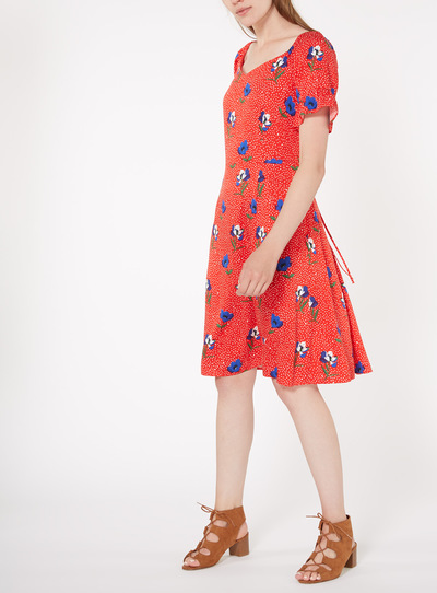 Online Exclusive Floral Tea Dress