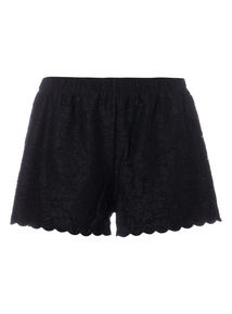 Online Exclusive Lace Scallop Hem Shorts