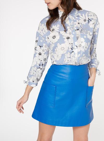 Floral Pinstripe Shirt