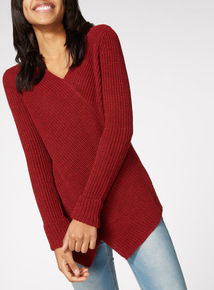 Red Cross Front Knitted Jumper