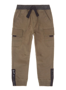 Khaki Woven Cargo Trousers (9 months-6 years)
